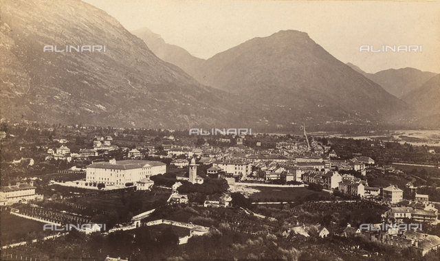 View of Domodossola, city in Piedmont