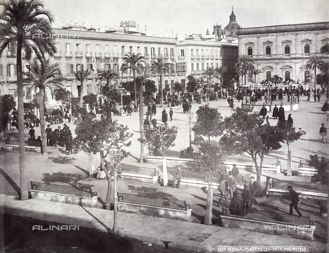 A square in Seville, Spain.