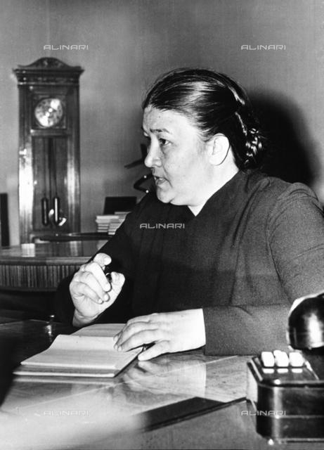 A female Russian journalist