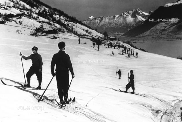 Austrian skiers on the slopes of Schmittenhohe.