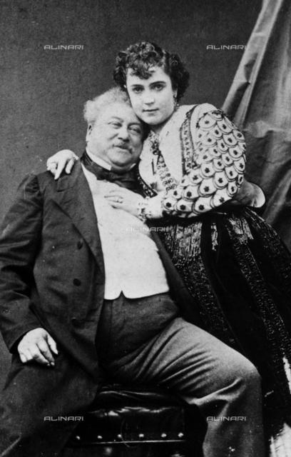 Alexandre Dumas and Adda Mellen