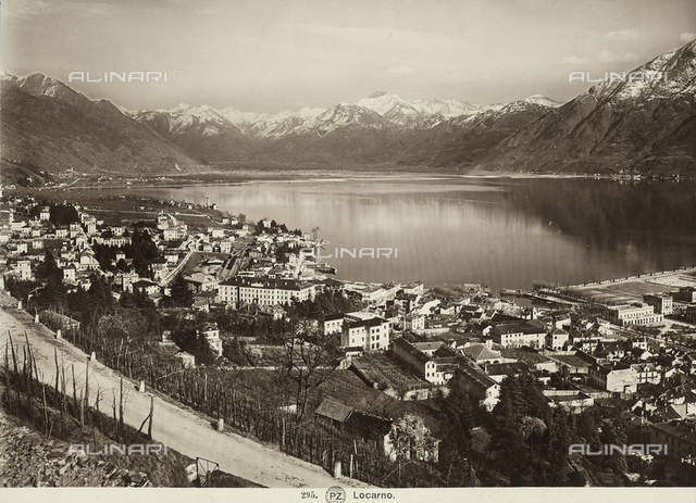 The city of Locarno on the homonimous lake, Switzerland