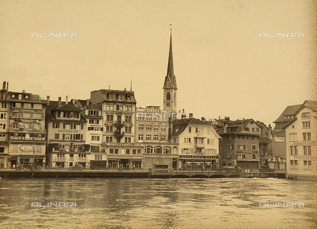 Buildings on Lake Lucerne