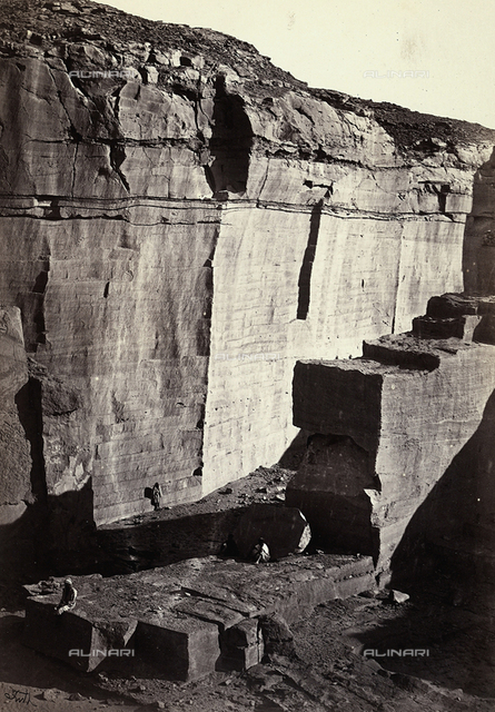 View of the silicon quarries in Egypt