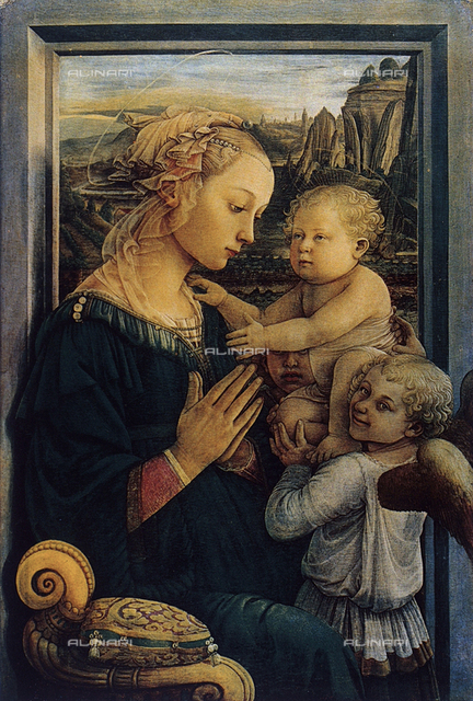 Madonna and Child with angels, Galleria degli Uffizi, Florence