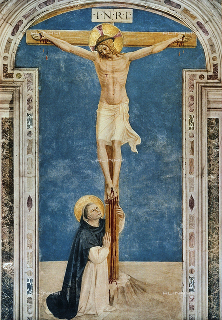 St. Dominic Adoring the Crucifixion, fresco, Museo di San Marco, Florence