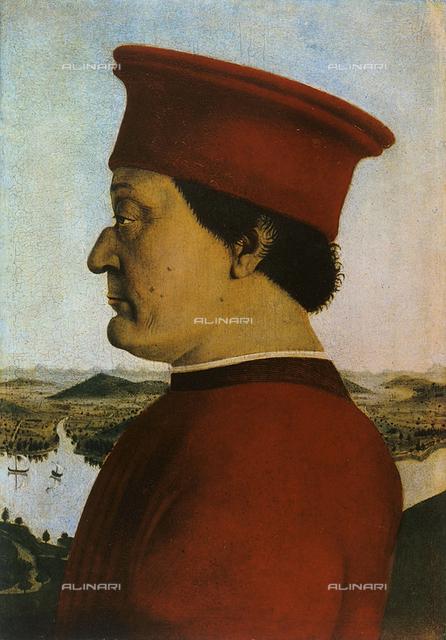 Portrait of Federico da Montefeltro, Uffizi Gallery, Florence