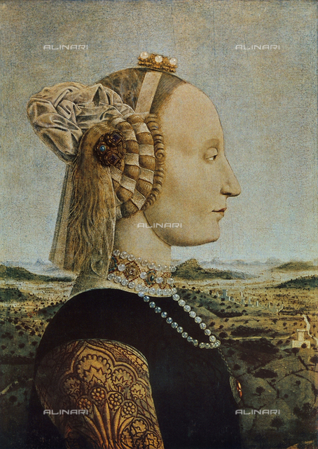 Portrait of Battista Sforza, Uffizi Gallery, Florence