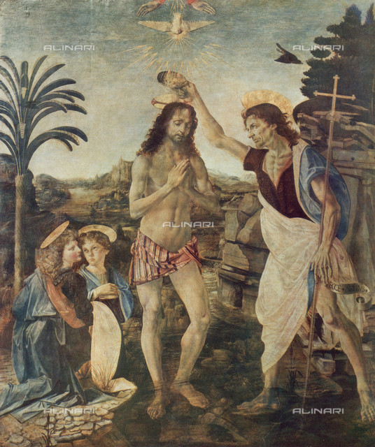 The Baptism of Christ, Uffizi Gallery, Florence