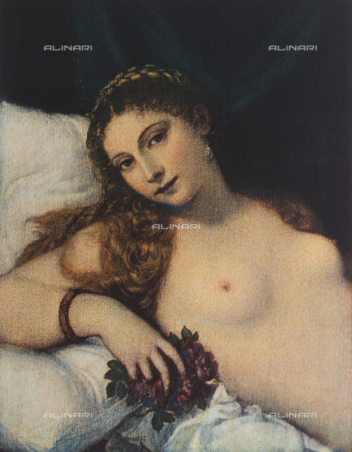 The Venus of Urbino: detail of the face, Uffizi Gallery, Florence