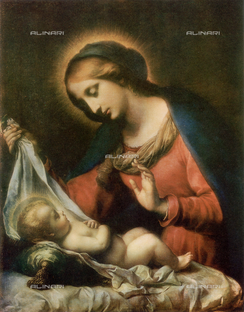 Madonna and Child. Work of Carlo Dolci, Corsini Gallery, Rome