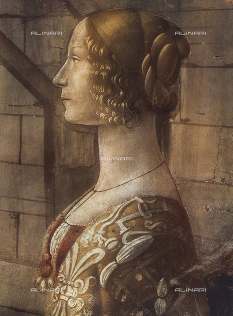 Portrait of Giovanna Tornabuoni; detail of the fresco with the Life of St. John the Baptist, Tornabuoni Chapel, Santa Maria Novella in Florence