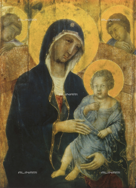 Madonna and Child with angels, Maestà, Museo dell'Opera Metropolitana, Siena
