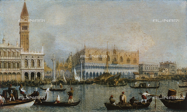 View of the Doge's Palace; painting, Uffizi Gallery, Florence