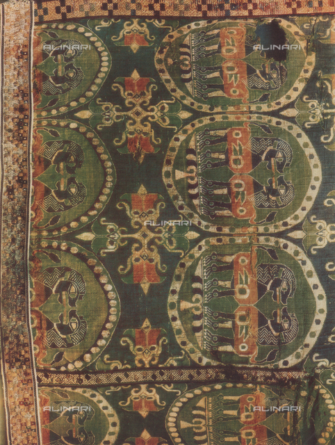 Fabric with lions; work of Oriental art. Vatican Museums, Vatican City