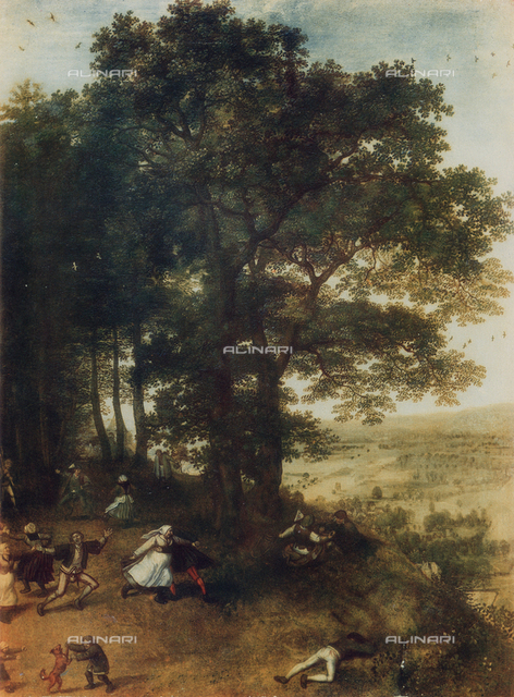 Landscape with country dance; work of Jan Brueghel the Elder, Uffizi Gallery, Florence