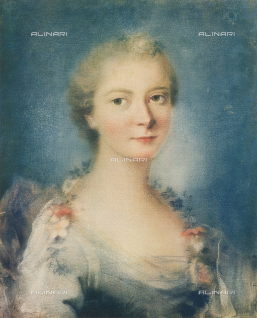 Portrait of a lady; painting by Rosalba Carriera. Galleria Estense, Modena