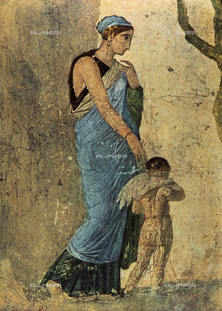 The Punishment of Eros by Venus; wall painting from Pompeii. Museo Archeologico Nazionale, Naples