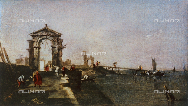 Caprice with an arch and pier, Uffizi Gallery, Florence