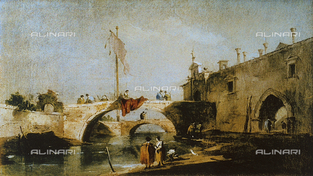 Capriccio with bridges over a canal, Uffizi Gallery, Florence