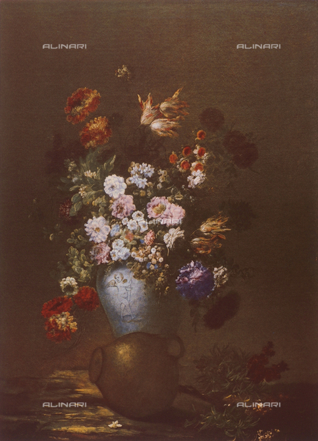 Vase of Flowers; painting from the Flemish School. Uffizi Gallery, Florence