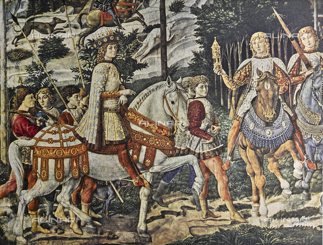 Lorenzo the Magnificent; close-up of the Ride of the Magi, Chapel of the Magi, Palazzo Medici Riccardi, Florence