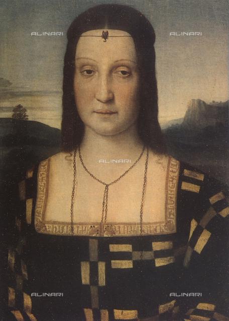 Portrait of Elisabetta Gonzaga; Uffizi Gallery, Florence