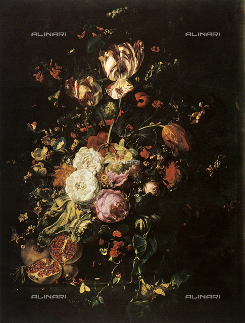 Still life with flowers and fruit; painting, Palatine Gallery, Palazzo Pitti, Florence