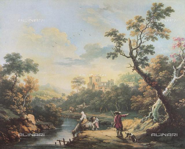 Landscape; painting by Vittorio Amedeo Cignaroli. Museo Civico di Arte Antica, Turin