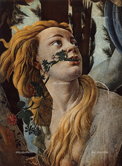 The Spring, detail from the face of Clori, Uffizzi Gallery, Florence
