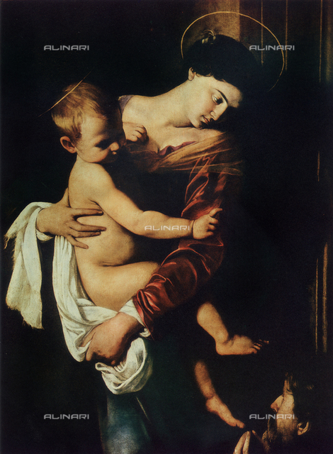 The Madonna of Loreto, detail, Caravaggio, church of Sant'Agostino, Rome