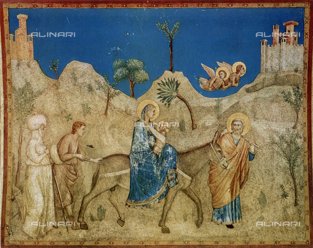 Flight into Egypt; Lower Church of S. Francesco, Assisi