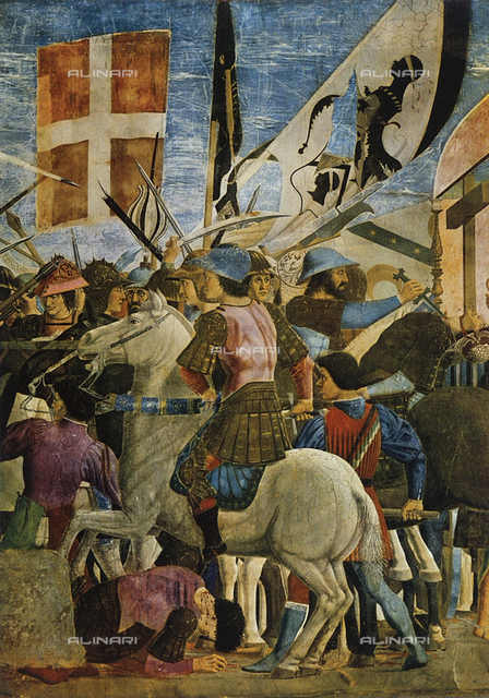 Victory of Heraclius over the Persian King Chosroes, episode from the fresco cycle of the Legend of the True Cross, Choir, Church of San Francesco, Arezzo