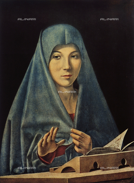 Annunziata (or Announced), oil on panel, Antonello da Messina (ca.1430-1479), Annunciation Hall, Palazzo Abatellis, Regional Gallery, Palermo