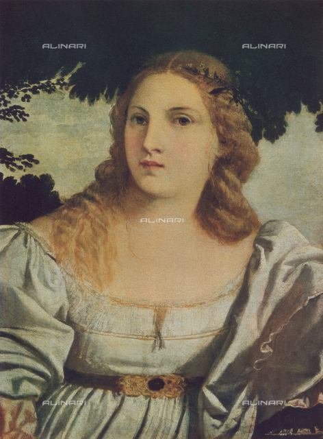 Sacred Love, detail from the painting Sacred and Profane Love; by Titian. Galleria Borghese, Rome