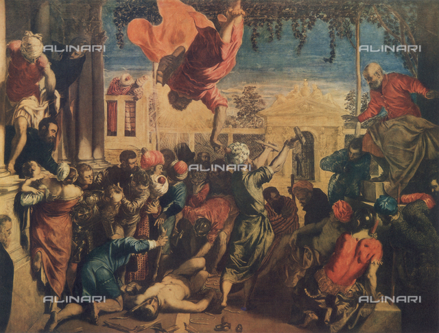 St. Mark Freeing a Christian Slave; painting by Tintoretto. Gallerie dell'Accademia, Venice