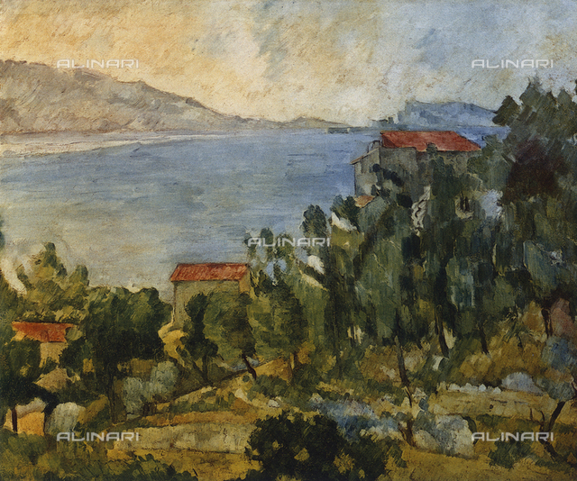 L'Estaque; painting by Paul Cézanne, French Private Collection