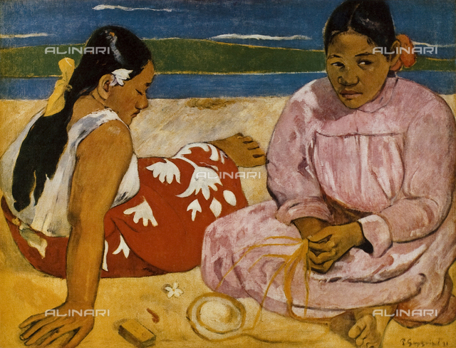 "Paul Gauguin (1848-1903). Oil on canvas, ""Femmes de Tahiti ou sur la plage"", ""Tahitian Women on the Beach"", 1891, Paris, Musée d'Orsay"