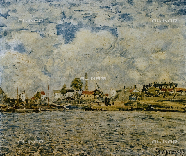 "At daybreak, oil on canvas, Alfred Sisley (1839-99), Musée des Beaux Arts ""Andre Malraux"", Le Havre"