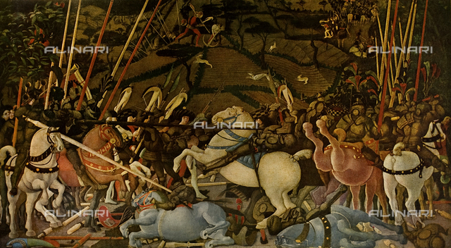 Battle of San Romano, Paolo Uccello, Uffizi Gallery, Florence
