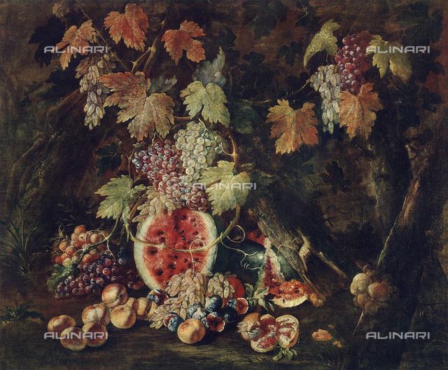Still life, painting by Giovan Battista Ruoppolo, Museum of San Martino, Naples