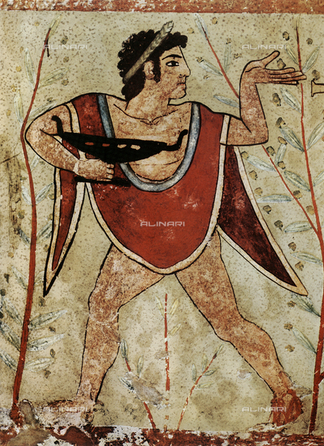 Dancer (male), Tomb of the Leopards, Tarquinia