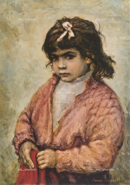 Gypsy girl; painting by Leonardo Pizzanelli. Rosenblum Collection, Paris