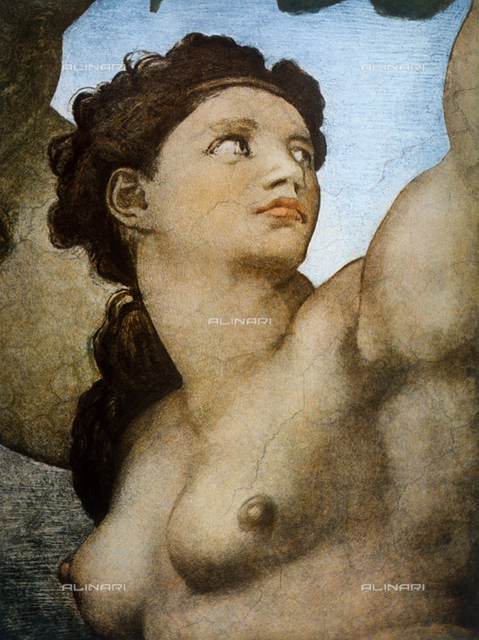 Eve, detail of Original Sin, part of the Stories of Genesis, Sistine Chapel, Vatican Museums, Vatican