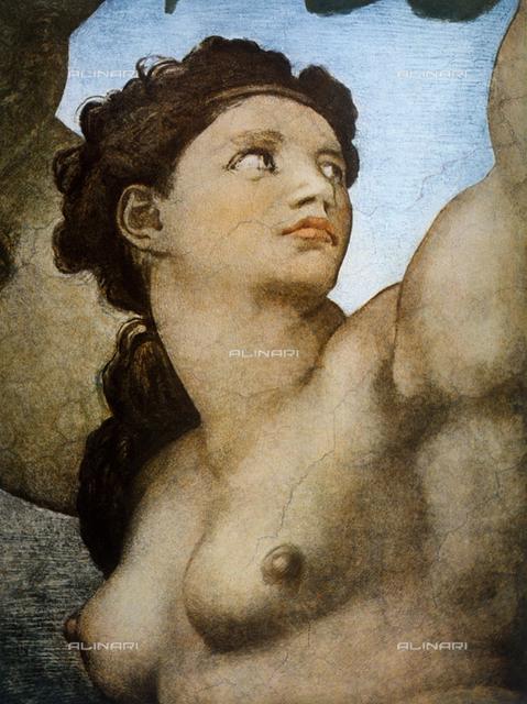 Eve, detail of Original Sin, part of the Stories of Genesis, Sistine Chapel, Vatican Museums, Vatican