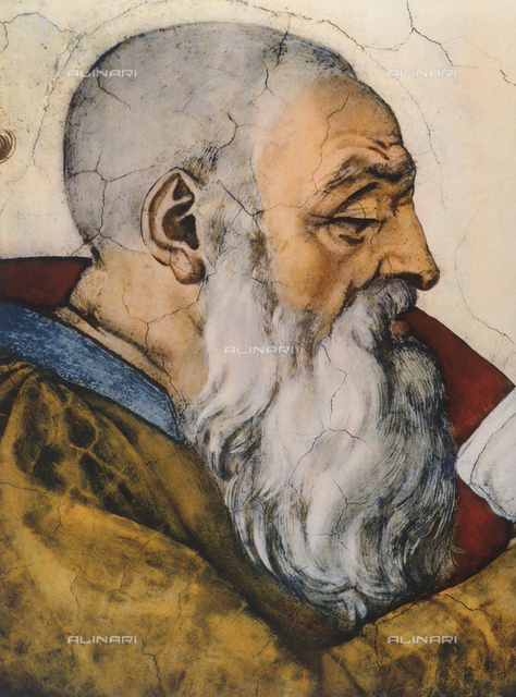 The prophet Zechariah, detail of the vault, Sistine Chapel, Vatican City
