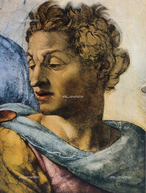 Prophet Isaiah, detail of the face. Sistine Chapel, Vatican City