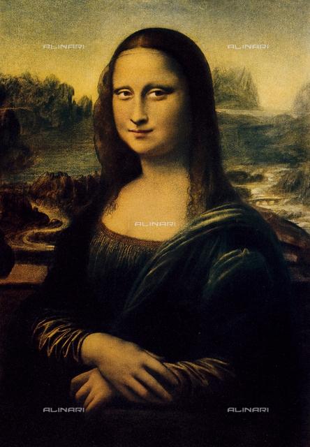 La Gioconda, portrait of Mona Lisa, Leonardo da Vinci, 1503-1505, Paris, Louvre Museum