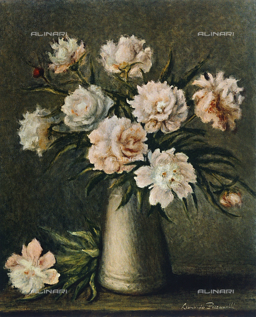 Still life: flowers, Leonardo Pizzanelli, Private Collection