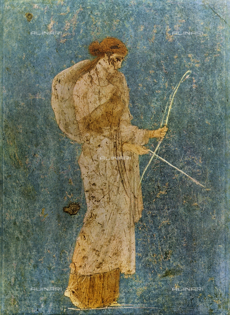 Diana; wall painting from Pompeii, in the National Archaeological Museum, Naples